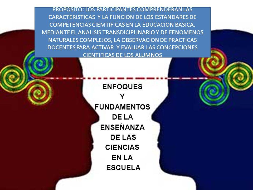 MÓDULO 1 ENFOQUES Y FUNDAMENTOS DE LA ENSEÑANZA DE LAS CIENCIAS EN LA ESCUELA PROPOSITO: LOS PARTICIPANTES COMPRENDERAN LAS CARACTERISTICAS Y LA FUNCI