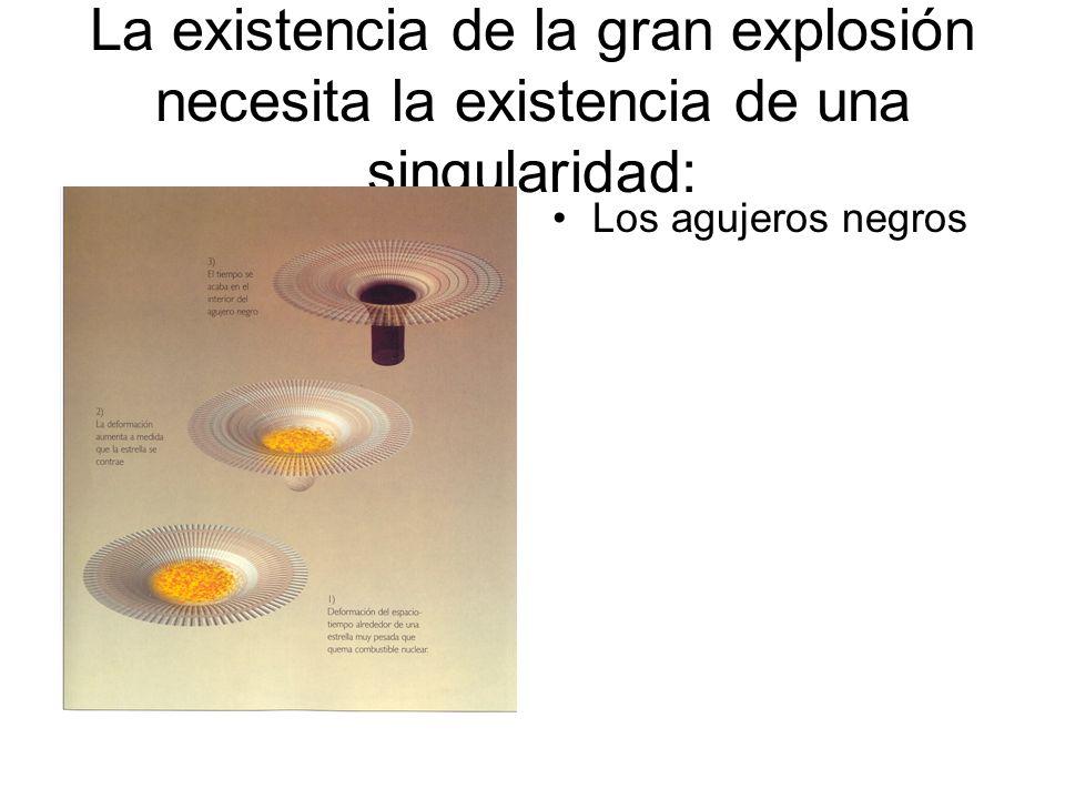 La existencia de la gran explosión necesita la existencia de una singularidad: Los agujeros negros