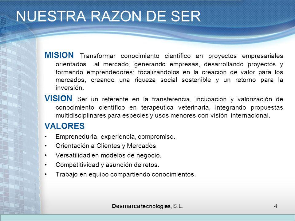 MISION Transformar conocimiento científico en proyectos empresariales orientados al mercado, generando empresas, desarrollando proyectos y formando em
