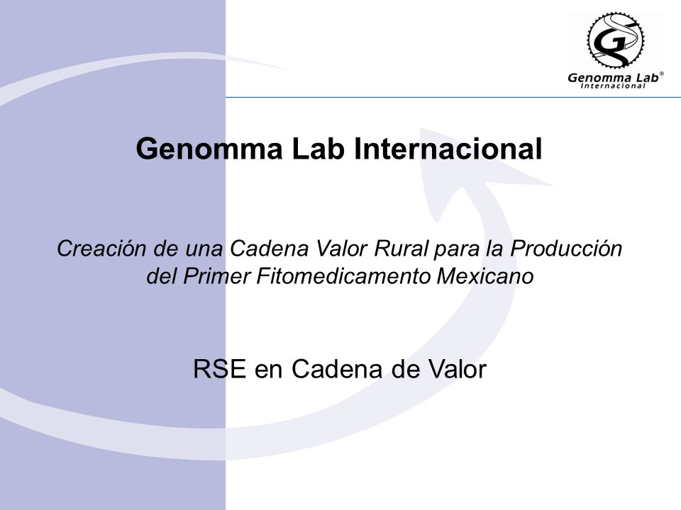 Genomma Lab Internacional Creación de una Cadena Valor Rural para la Producción del Primer Fitomedicamento Mexicano RSE en Cadena de Valor
