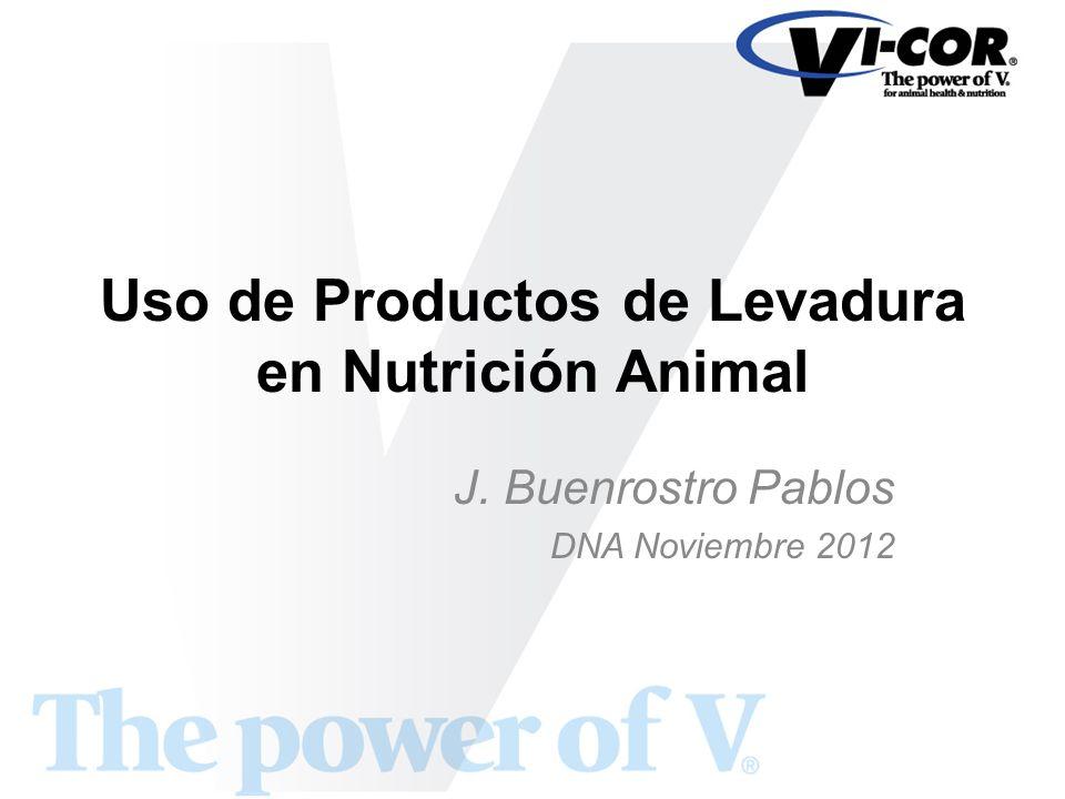 Uso de Productos de Levadura en Nutrición Animal J. Buenrostro Pablos DNA Noviembre 2012