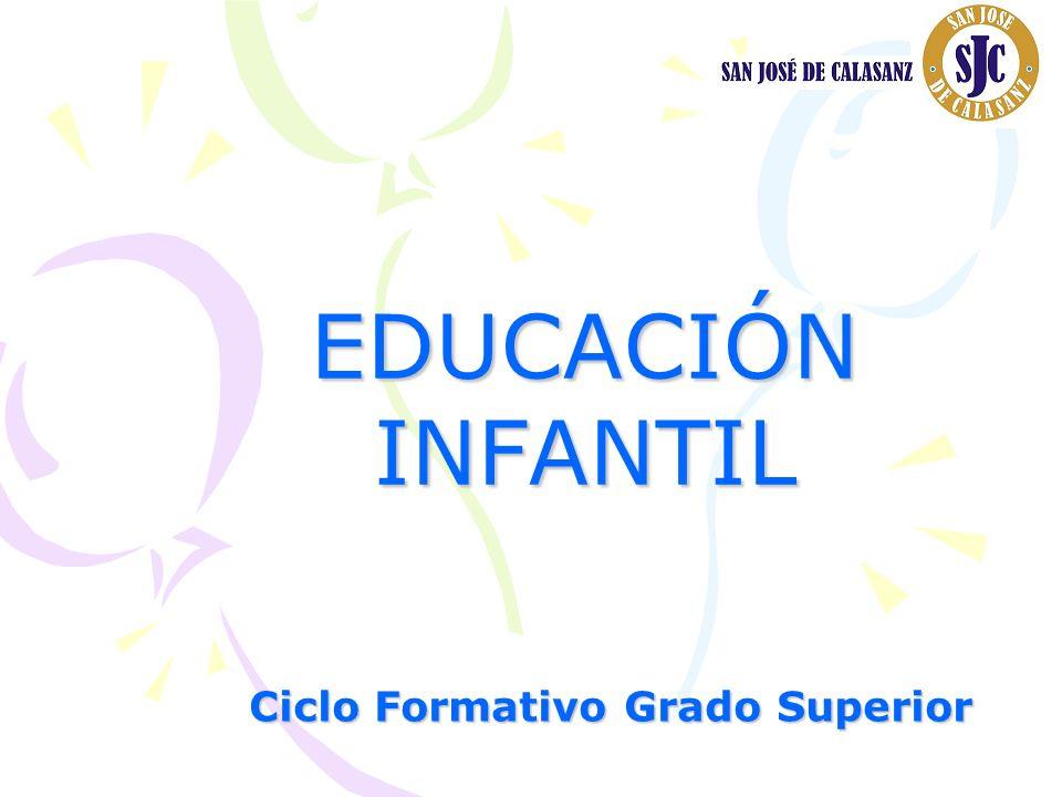 EDUCACIÓNINFANTIL Ciclo Formativo Grado Superior
