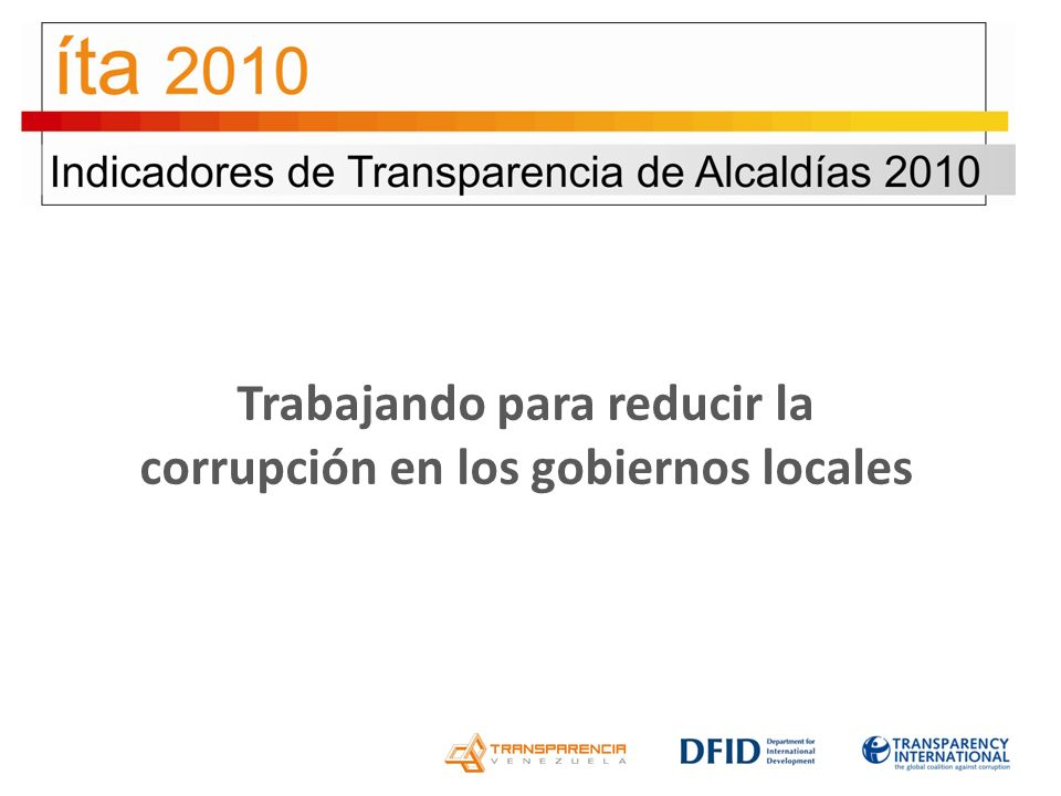 Trabajando para reducir la corrupción en los gobiernos locales