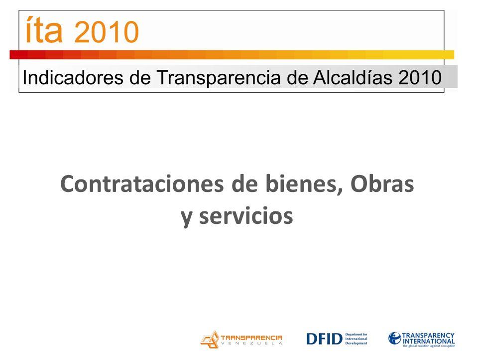 Contrataciones de bienes, Obras y servicios