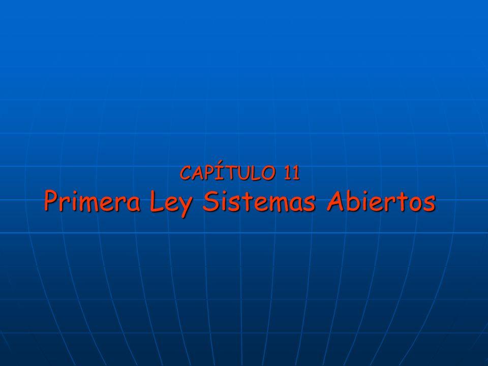 CAPÍTULO 11 Primera Ley Sistemas Abiertos