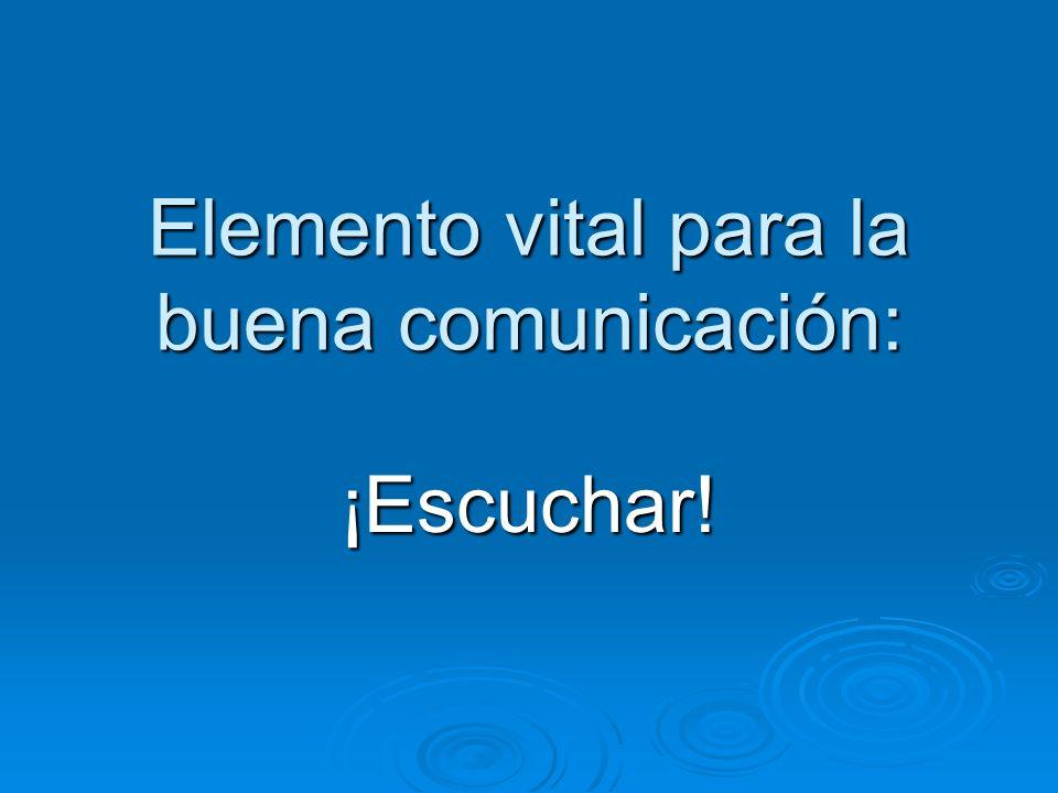 Elemento vital para la buena comunicación: ¡Escuchar!
