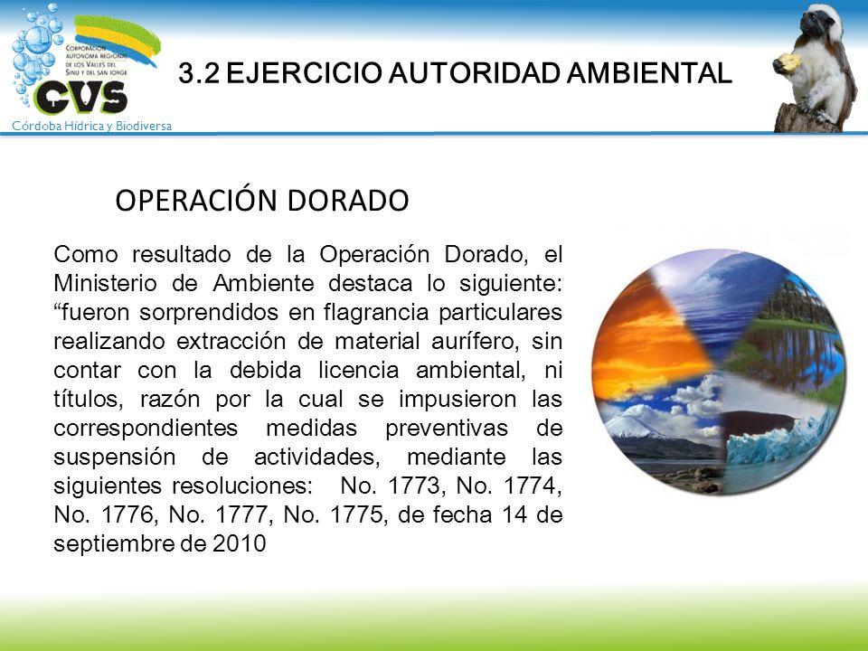 Córdoba Hídrica y Biodiversa Como resultado de la Operación Dorado, el Ministerio de Ambiente destaca lo siguiente:fueron sorprendidos en flagrancia p