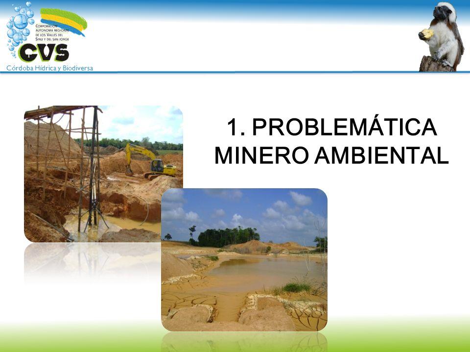 Córdoba Hídrica y Biodiversa Minería: La quinta locomotora del Gobierno Nacional Los altos precios del oro a nivel internacional incentivan la actividad minera en los departamentos de Córdoba, Antioquia y Sur de Bolívar.