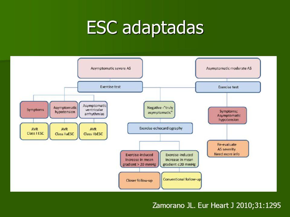 ESC adaptadas Zamorano JL. Eur Heart J 2010;31:1295