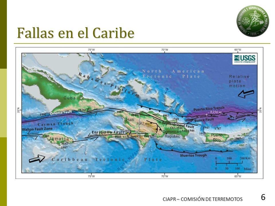 Fallas en el Caribe CIAPR – COMISIÓN DE TERREMOTOS 6