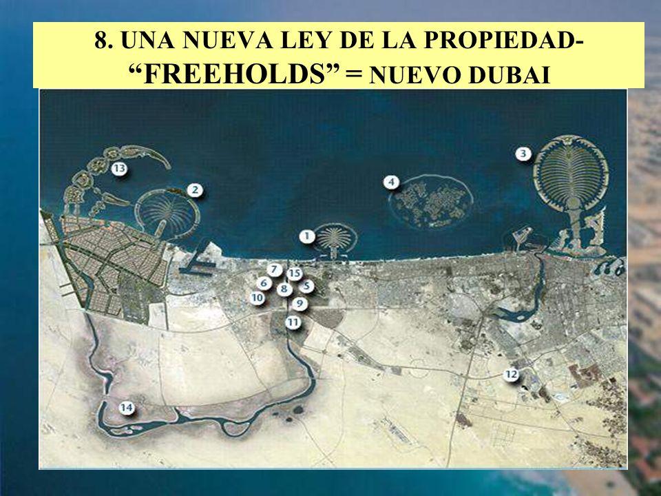 19 8. UNA NUEVA LEY DE LA PROPIEDAD- FREEHOLDS = NUEVO DUBAI