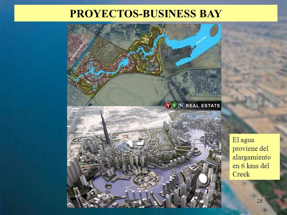 28 PROYECTOS-BUSINESS BAY El agua proviene del alargamiento en 6 kms del Creek