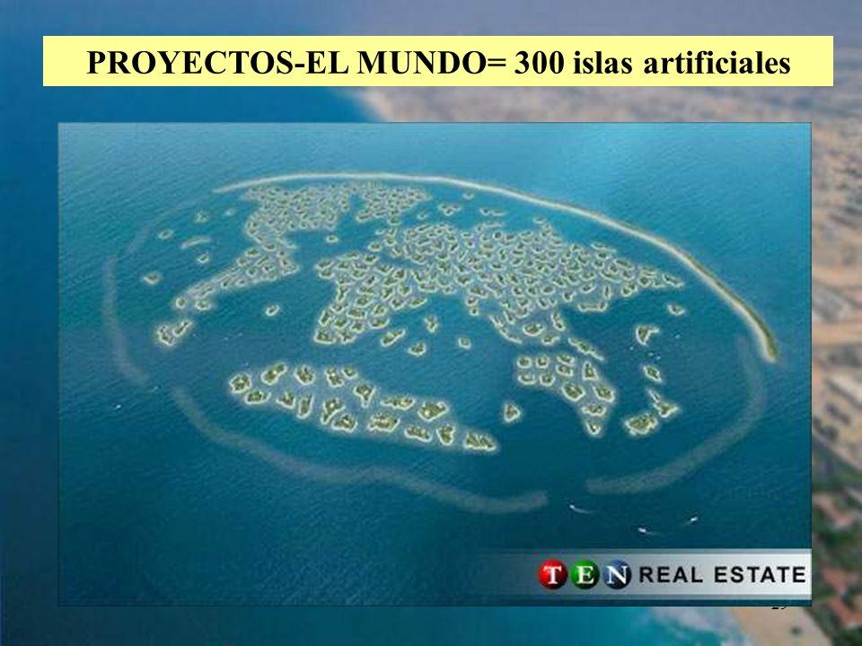 29 PROYECTOS-EL MUNDO= 300 islas artificiales