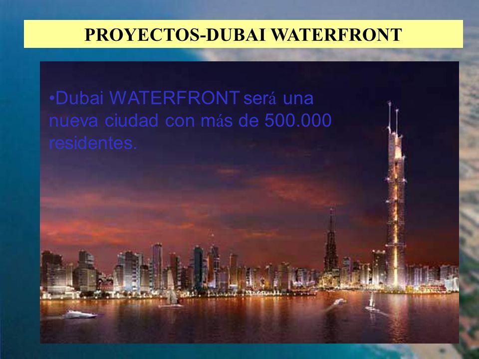 34 PROYECTOS-DUBAI WATERFRONT Dubai WATERFRONT ser á una nueva ciudad con m á s de 500.000 residentes.