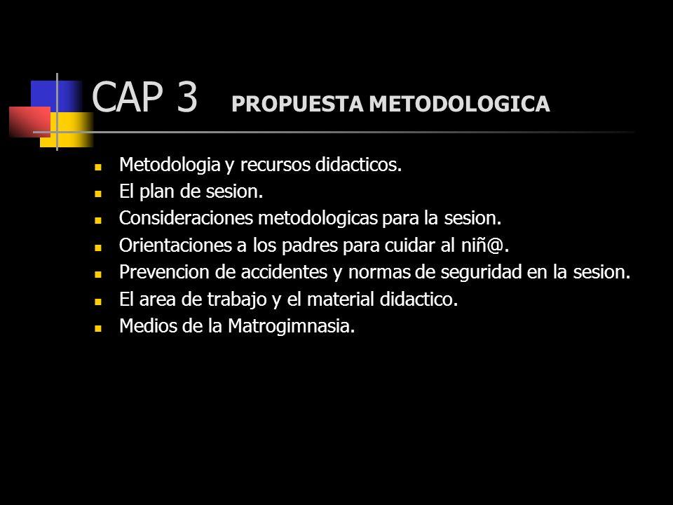 CAP 3 PROPUESTA METODOLOGICA Metodologia y recursos didacticos. El plan de sesion. Consideraciones metodologicas para la sesion. Orientaciones a los p