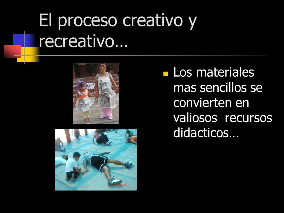El proceso creativo y recreativo… Los materiales mas sencillos se convierten en valiosos recursos didacticos…