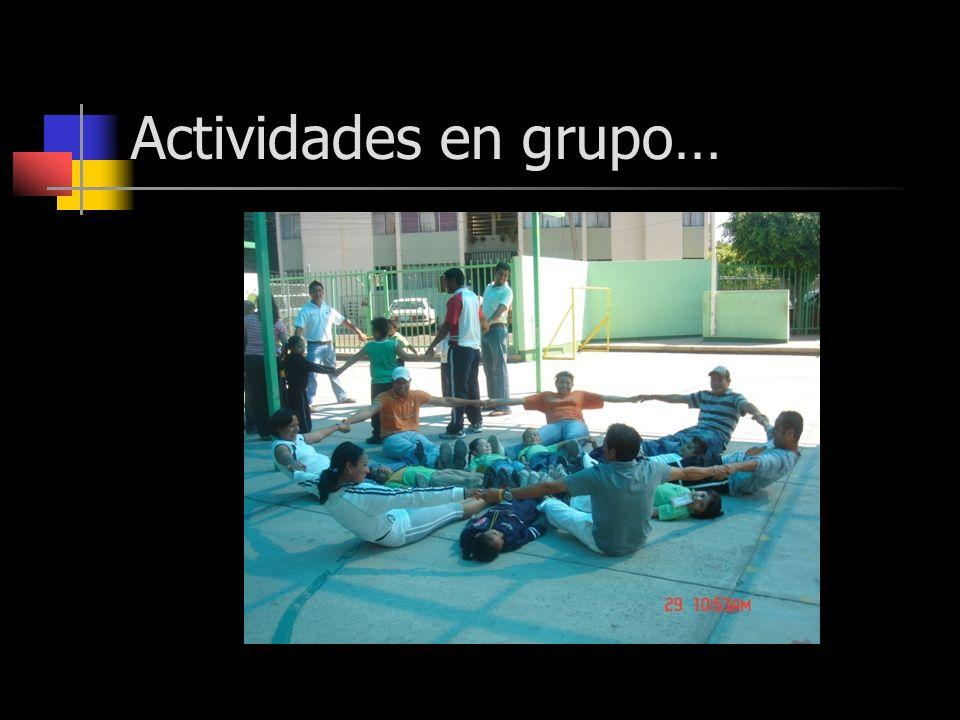 Actividades en grupo…