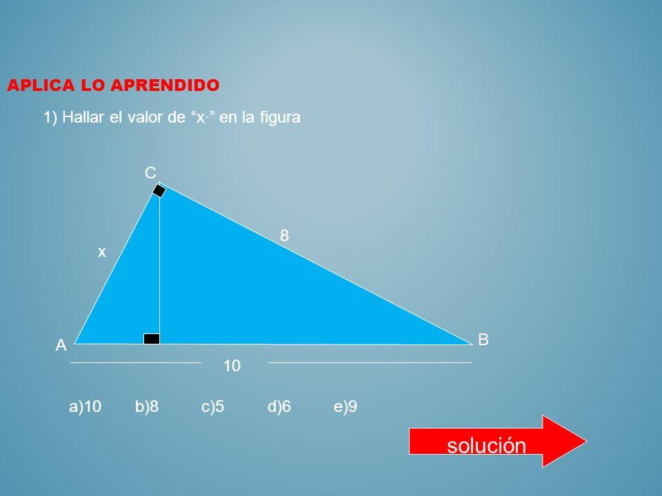 8 RELACIONES MÉTRICAS EN EL TRIANGULO RECTÁNGULO 1) TEOREMA DEL CATETO a 2 =mc b 2 =nc 2) TEOREMA DE PITAGORAS a 2 +b 2 =c 2 3) TEOREMA DE LA ALTURA h