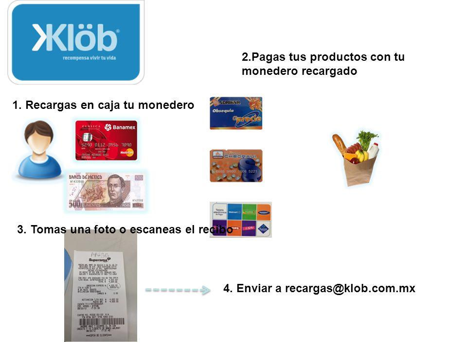 Opciones para consumir y poder cobrar: 1.Comprando en tiendas recomendadas por Klob 1.MonkyPass (Costo 10 o 5 usd) 2.Negocios Recomendados 1.Capacitac