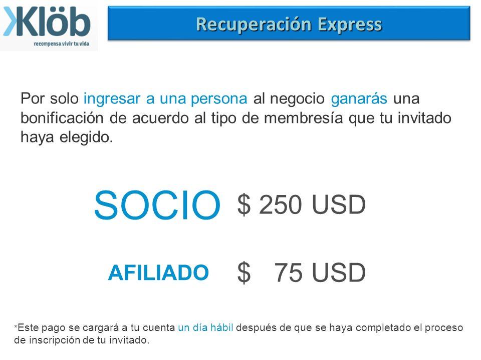 Plan de recompensas 4 Recibir ingresos. Todas las comisiones que se generan son pagadas directamente en tu tarjeta mastercard klob internacional, siem