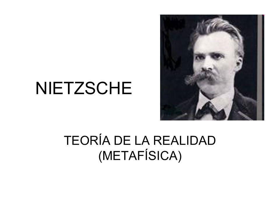 NIETZSCHE TEORÍA DE LA REALIDAD (METAFÍSICA)