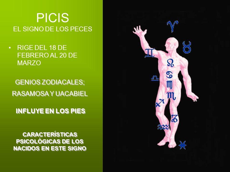 PICIS EL SIGNO DE LOS PECES RIGE DEL 18 DE FEBRERO AL 20 DE MARZO GENIOS ZODIACALES; RASAMOSA Y UACABIEL GENIOS ZODIACALES; RASAMOSA Y UACABIEL INFLUY