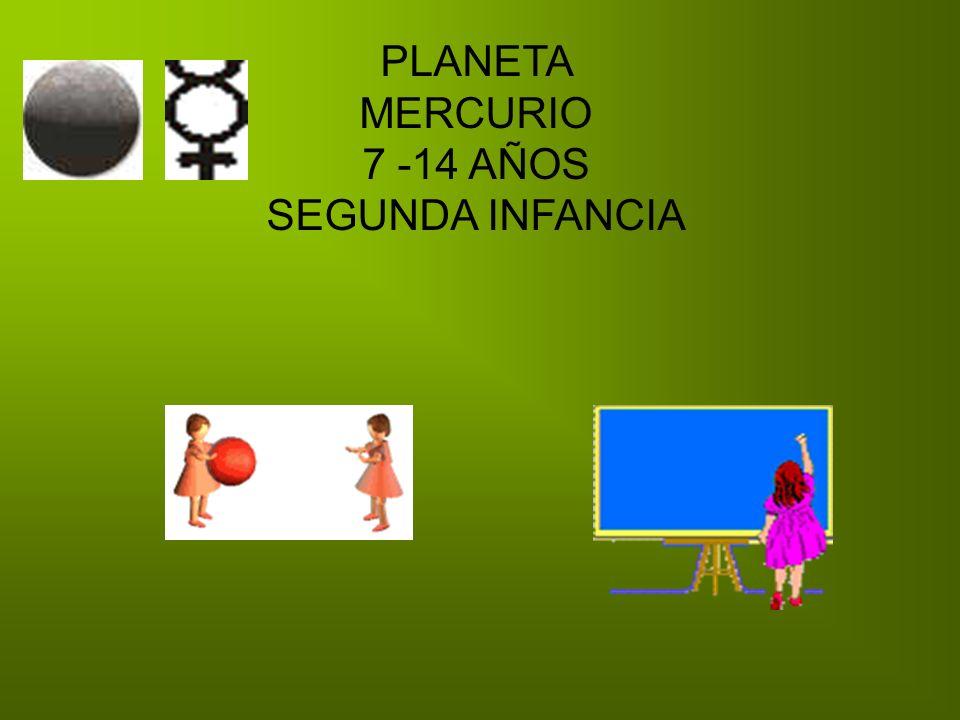 PLANETA MERCURIO 7 -14 AÑOS SEGUNDA INFANCIA