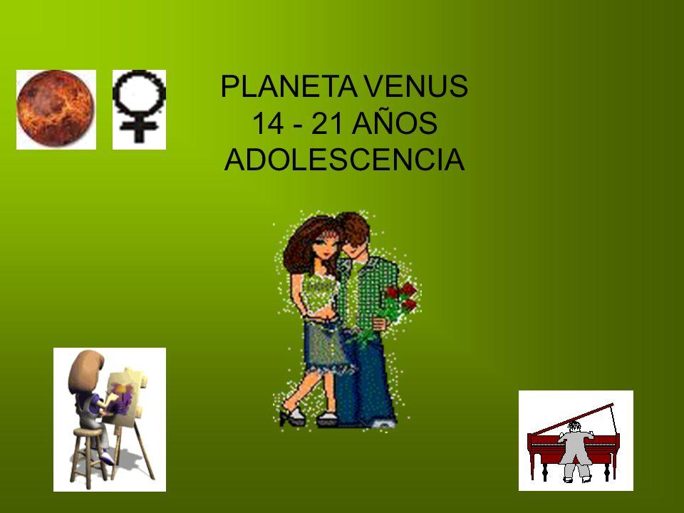 PLANETA VENUS 14 - 21 AÑOS ADOLESCENCIA
