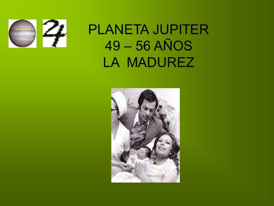 PLANETA JUPITER 49 – 56 AÑOS LA MADUREZ
