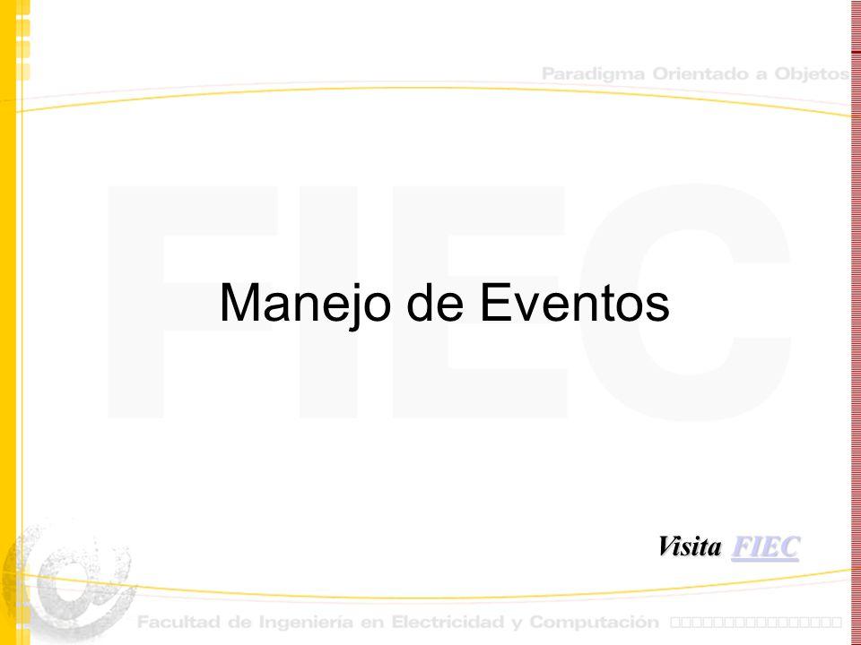 Manejo de Eventos Visita FIEC FIEC