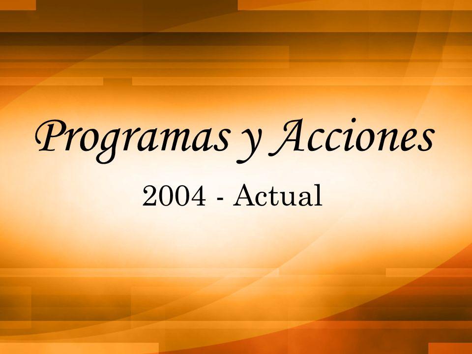 Programas y Acciones 2004 - Actual