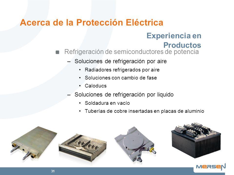 31 Refrigeración de semiconductores de potencia –Soluciones de refrigeración por aire Radiadores refrigerados por aire Soluciones con cambio de fase C