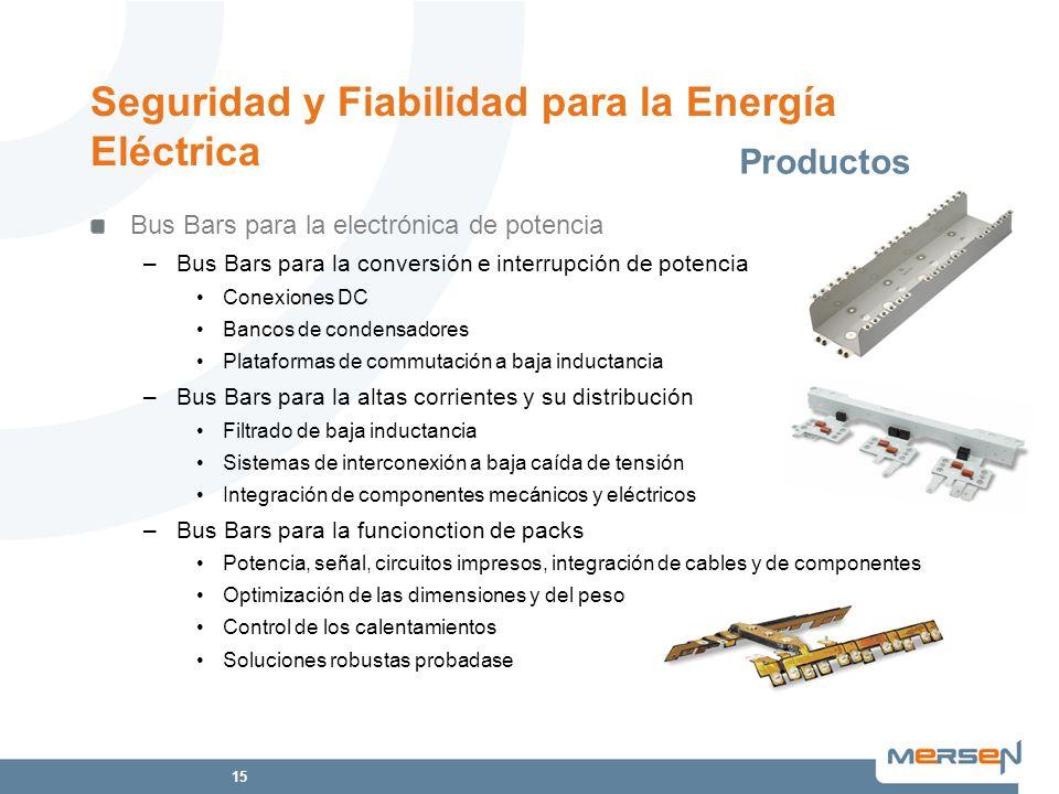 15 Seguridad y Fiabilidad para la Energía Eléctrica Bus Bars para la electrónica de potencia –Bus Bars para la conversión e interrupción de potencia C