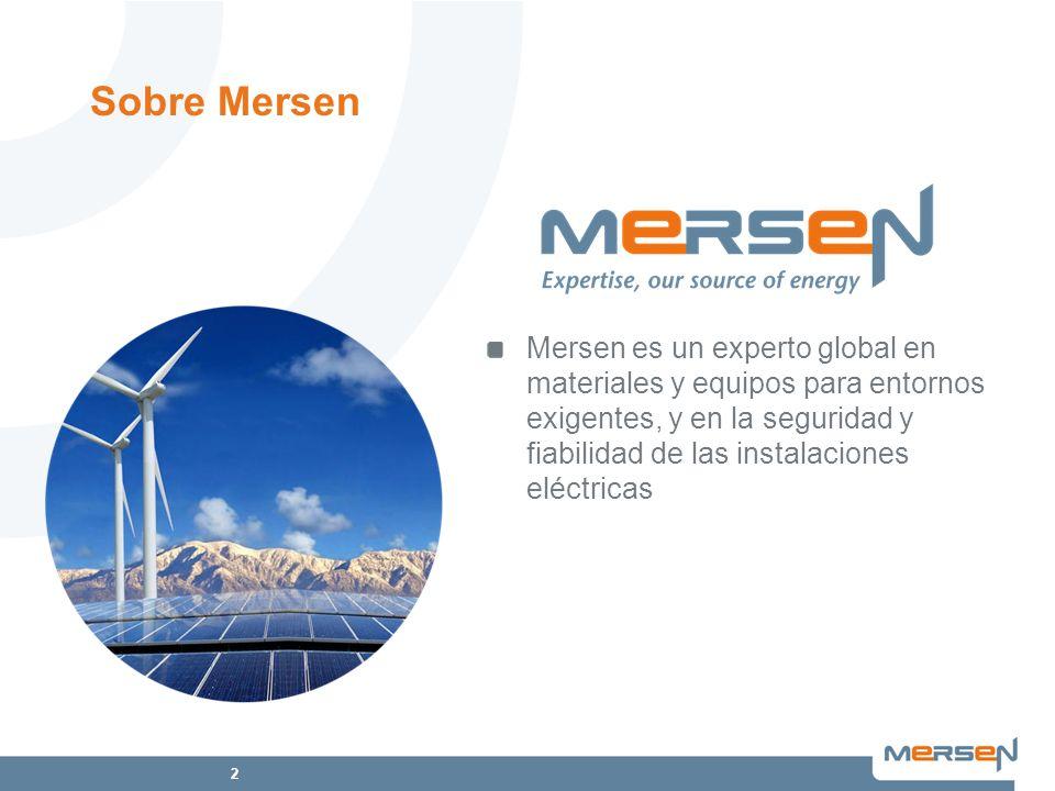 2 Mersen es un experto global en materiales y equipos para entornos exigentes, y en la seguridad y fiabilidad de las instalaciones eléctricas Sobre Me