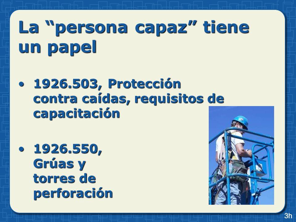 La persona capaz tiene un papel 1926.503, Protección contra caídas, requisitos de capacitación1926.503, Protección contra caídas, requisitos de capaci