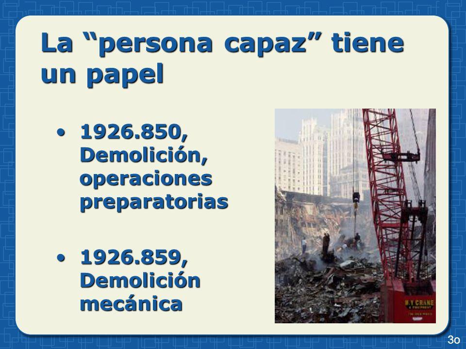 La persona capaz tiene un papel 1926.850, Demolición, operaciones preparatorias1926.850, Demolición, operaciones preparatorias 1926.859, Demolición me