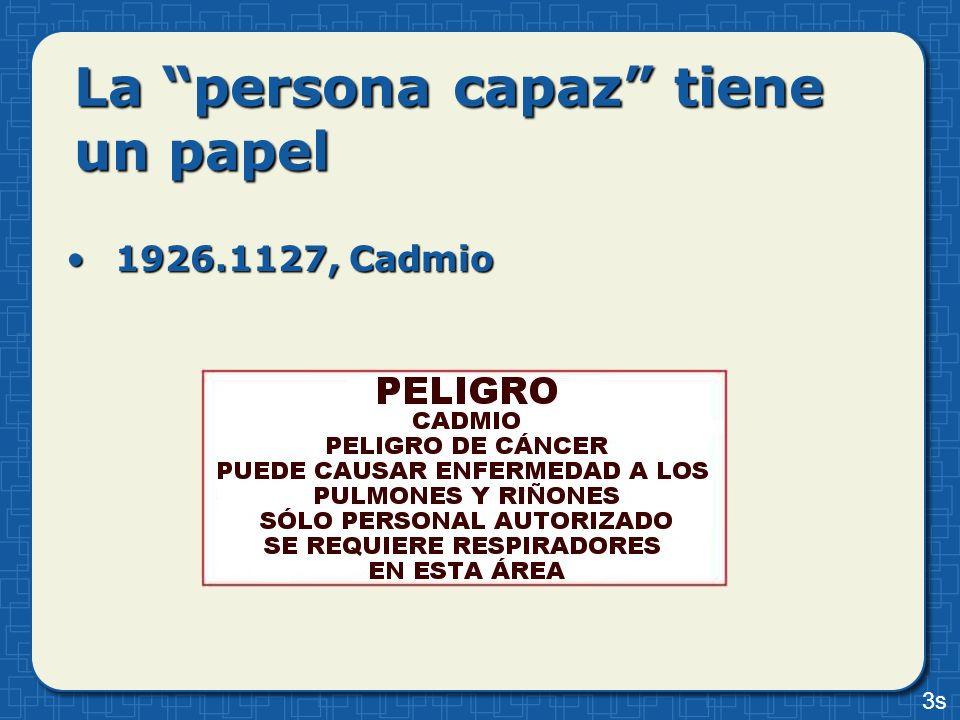 La persona capaz tiene un papel 1926.1127, Cadmio1926.1127, Cadmio 3s