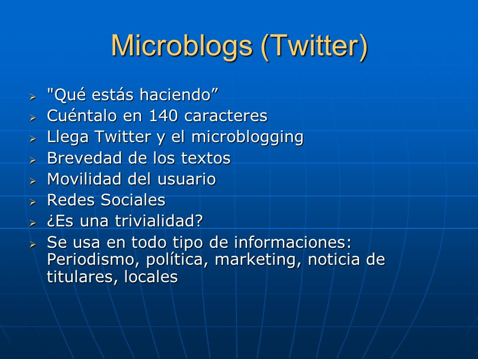 Microblogs (Twitter)