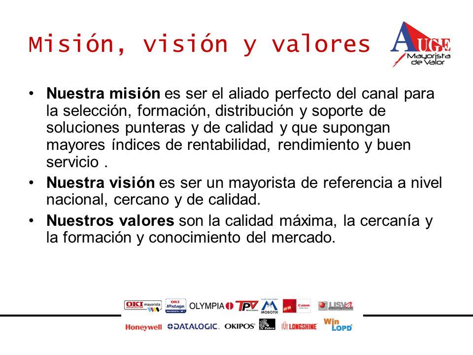 Misión, visión y valores Nuestra misión es ser el aliado perfecto del canal para la selección, formación, distribución y soporte de soluciones puntera
