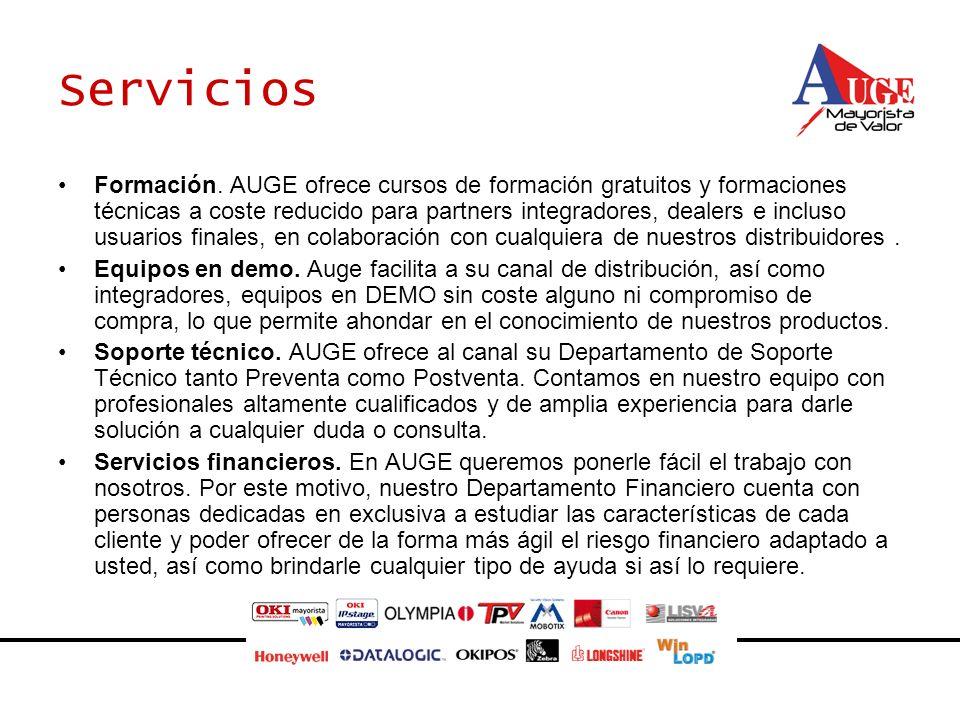 Servicios Formación. AUGE ofrece cursos de formación gratuitos y formaciones técnicas a coste reducido para partners integradores, dealers e incluso u