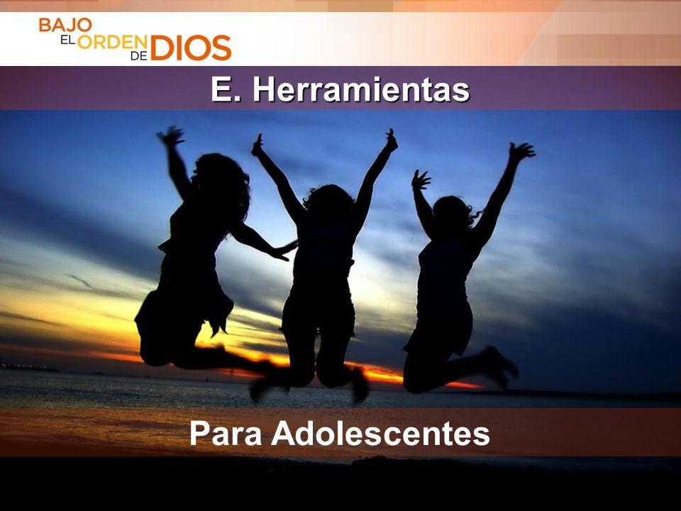 © 2013 Todos los derechos reservados ® Bajo el Orden de Dios es una marca registrada E. Herramientas Para Adolescentes