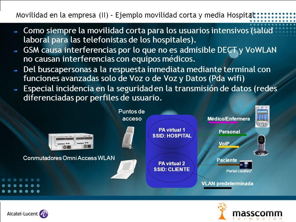 Movilidad en la empresa (II) – Ejemplo movilidad corta y media Hospital Como siempre la movilidad corta para los usuarios intensivos (salud laboral pa