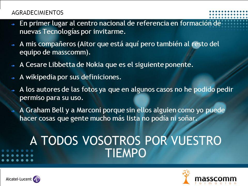 AGRADECIMIENTOS En primer lugar al centro nacional de referencia en formación de nuevas Tecnologías por invitarme.