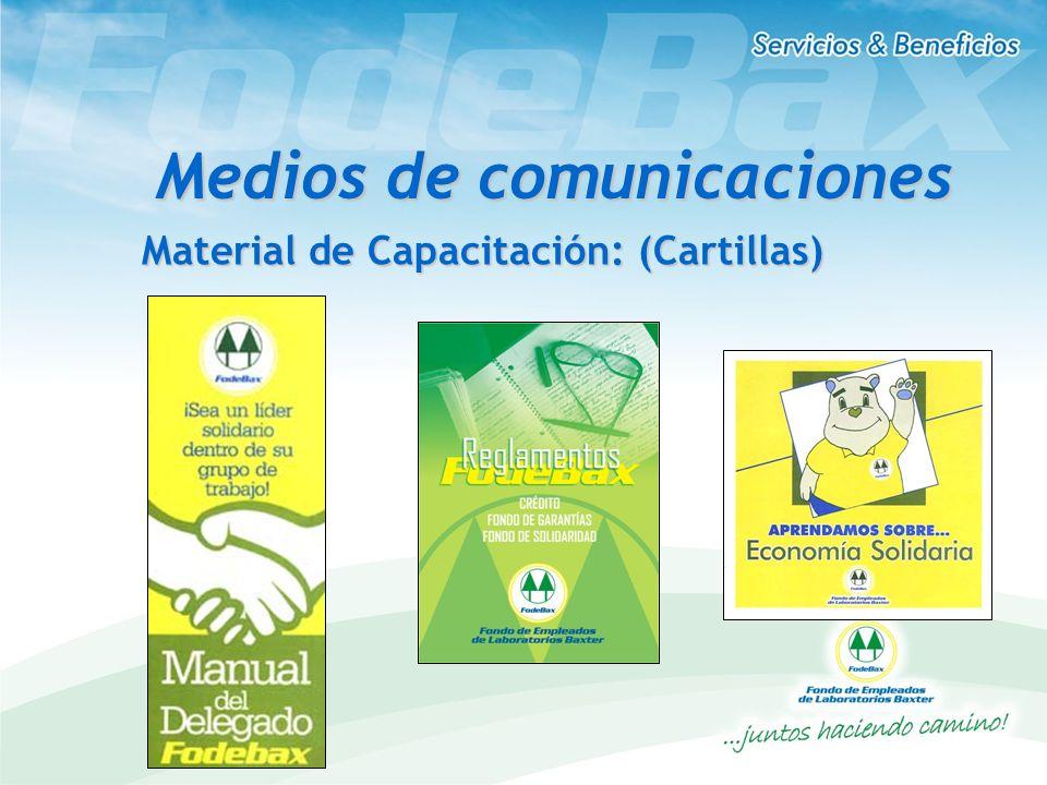 Material de Capacitación: (Cartillas) Medios de comunicaciones