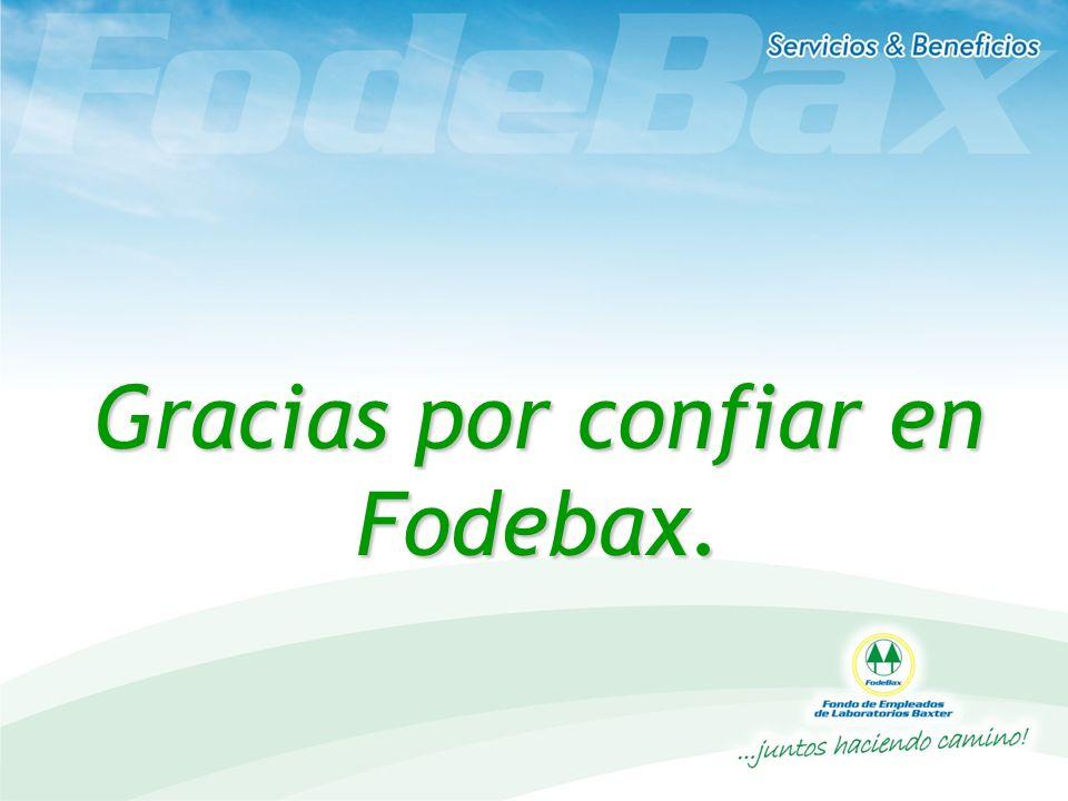 Gracias por confiar en Fodebax.