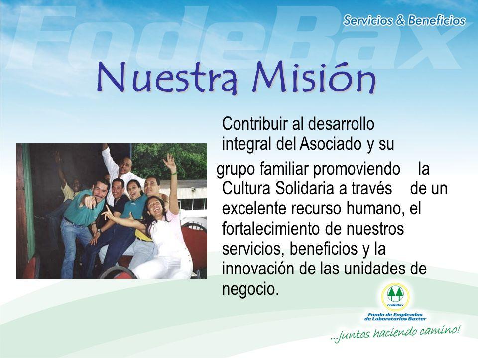 Contribuir al desarrollo integral del Asociado y su grupo familiar promoviendo la Cultura Solidaria a través de un excelente recurso humano, el fortal