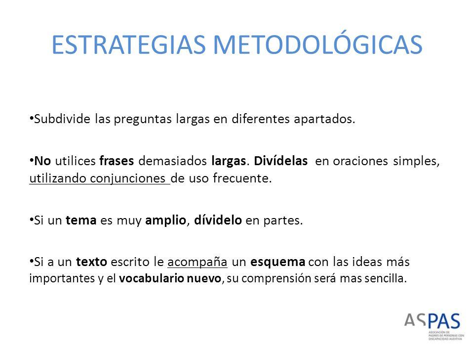 ESTRATEGIAS METODOLÓGICAS Si utilizas pronombres que se refieran a palabras ya escritas, asegúrate de que su antecedente queda claro.
