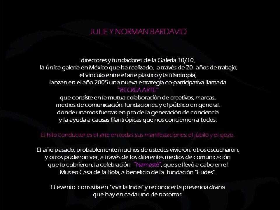 directores y fundadores de la Galería 10/10, la única galería en México que ha realizado, a través de 20 años de trabajo, el vínculo entre el arte plástico y la filantropía, lanzan en el año 2005 una nueva estrategia co-participativa llamada RECREA ARTE que consiste en la mutua colaboración de creativos, marcas, medios de comunicación, fundaciones, y el público en general, donde unamos fuerzas en pro de la generación de conciencia y la ayuda a causas filantrópicas que nos conciernen a todos.