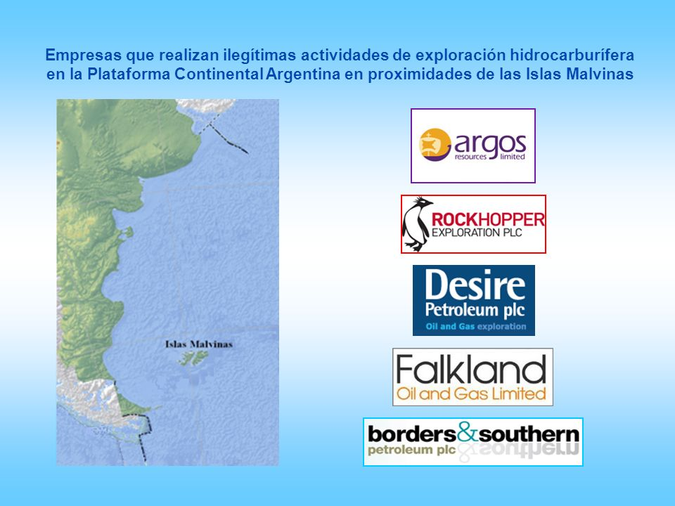 Empresas que realizan ilegítimas actividades de exploración hidrocarburífera en la Plataforma Continental Argentina en proximidades de las Islas Malvi