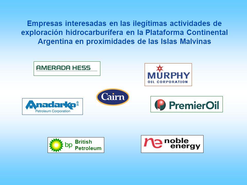 British Petroleum Empresas interesadas en las ilegítimas actividades de exploración hidrocarburífera en la Plataforma Continental Argentina en proximi